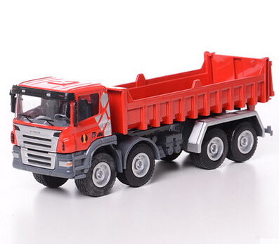 Huayi alloy dump truck large dump-car inertia engineering truck model toy car double 11(China (Mainland))