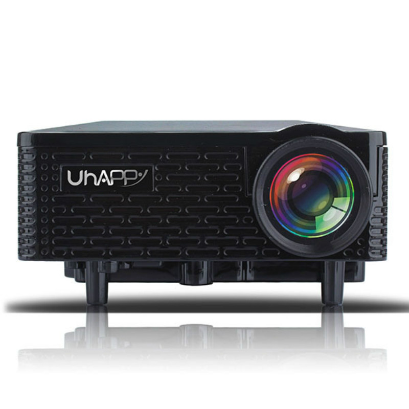 Black U18 Mini LED Projector 500LM Home Theater 320*240 With Remote Control For Android and iOS Office and Home Use With EU Plug(China (Mainland))