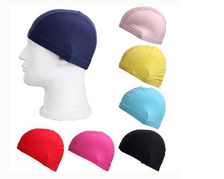 2015 hot sale Girl Waterproof swimming cap surf hat Protect Ears Long Hair Sports Swim Pool cap FREE SHIPPING(China (Mainland))