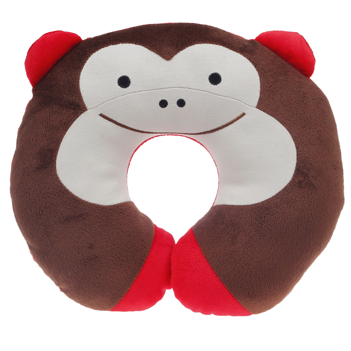 Cute Neck Pillows For Travel : Cute Monkey Style U Type Neck Pillow Brown + Red + Ivory-in Travel Pillows from Home & Garden on ...