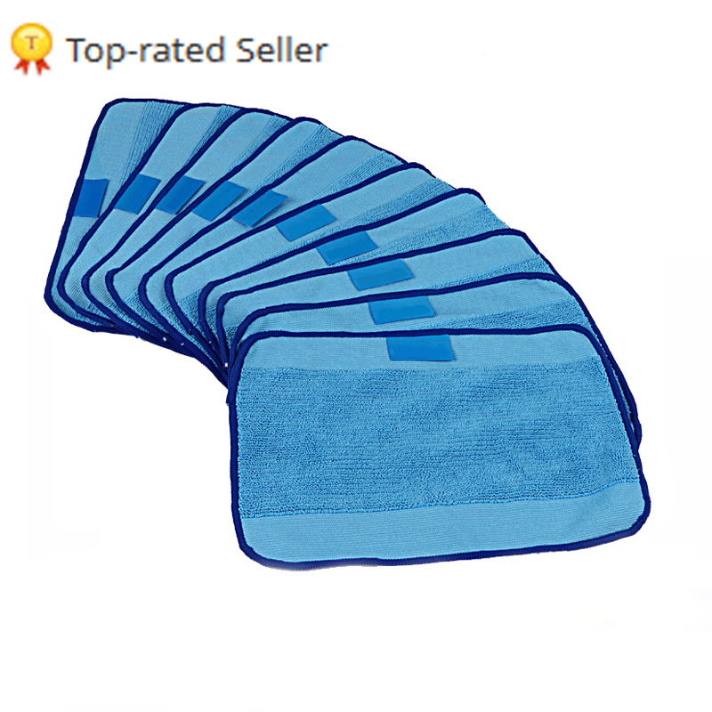 Microfiber 10-Pack Pro-Clean Mopping Cloths for Braava Floor Mopping Robot irobot Braava Minit 4200 5200 5200C 380 380t(China (Mainland))