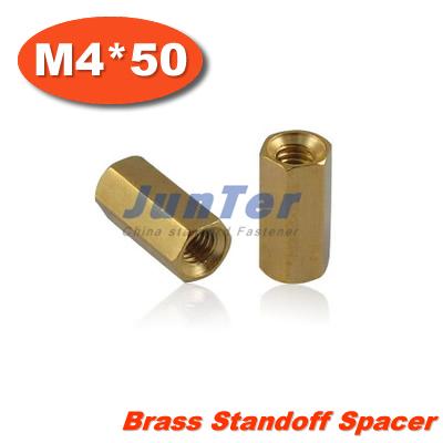 100pcs/lot Brass Standoff Spacer M4 Female x M4 Female 50mm<br><br>Aliexpress