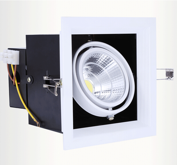 Free Shipping 20W LED Bean Pot Light COB LED Grille Lamp Highlighted LED Bean Gallbladder Lamp 140*140mm Warranty 3 Years(China (Mainland))