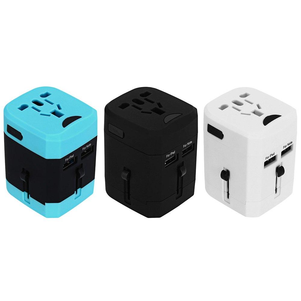 Worldwide Travel Adapter International Plug Dual USB Charging Port Universal AC Socket With Different plugs(China (Mainland))