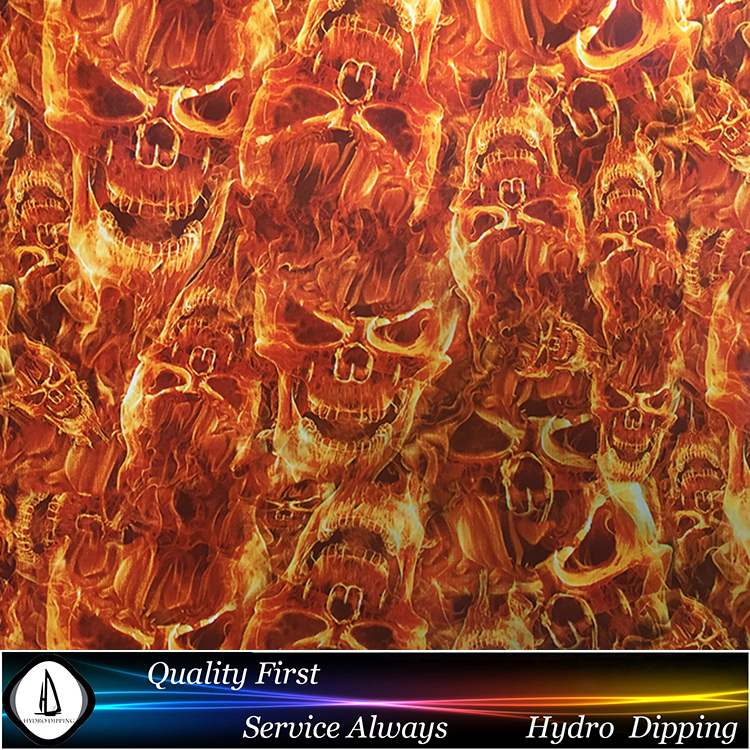 Water Transfer Printing Materials Hydro Dipping Film Flame Shull N0.D8018 Width 0.5m Length10m Hydrographics Water Transfer(China (Mainland))
