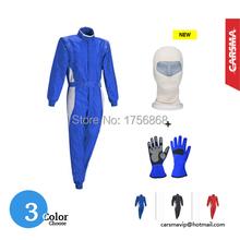 2016 Hot Selling 2 layers fire retardant fabric FIA Kart Racing Suit / Racing gloves / Racing mask DHL Free shipping(China (Mainland))