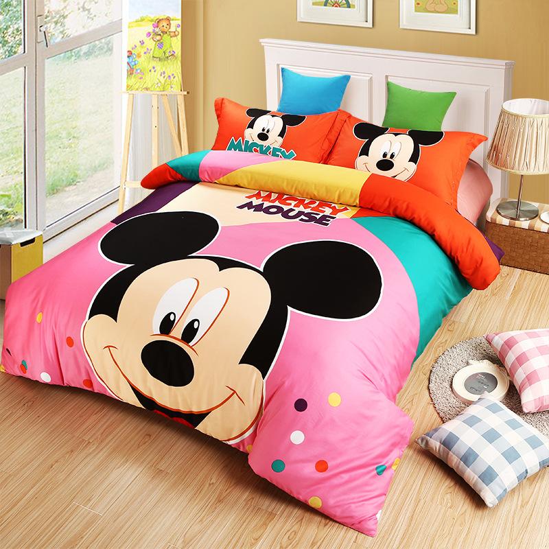 Fashion cartoon cotton bedding set twin size,kids bed sheet 3pcs,super cute princess duvet cover 4pcs,child housse de couette(China (Mainland))