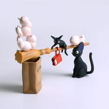 Anime figures Kiki's Delivery Service PVC Action figure Miyazaki Hayao 1-9 cm Gigi Kid Toys Collection Doll RETAIL BOX JK-0036