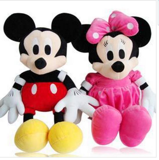 28-30cm Mickey Mouse And Minnie Mouse Toys Soft Toy Stuffed Animals Plush Toy dolls(China (Mainland))