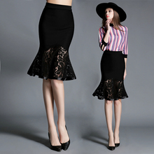 Buy NADANBAO Summer High Waist Skirt Black Elegant Party Mini Skirt Womens Sexy Fishtail Skirts Female Lace See-through Skirt for $23.85 in AliExpress store