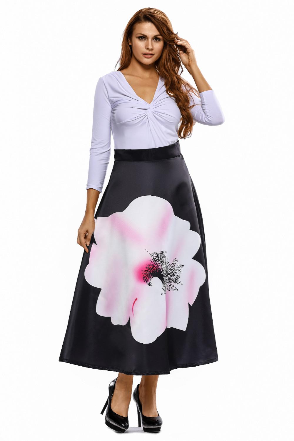 Big-Flower-Print-Black-High-Waist-Maxi-Skirt-LC65017-2-5