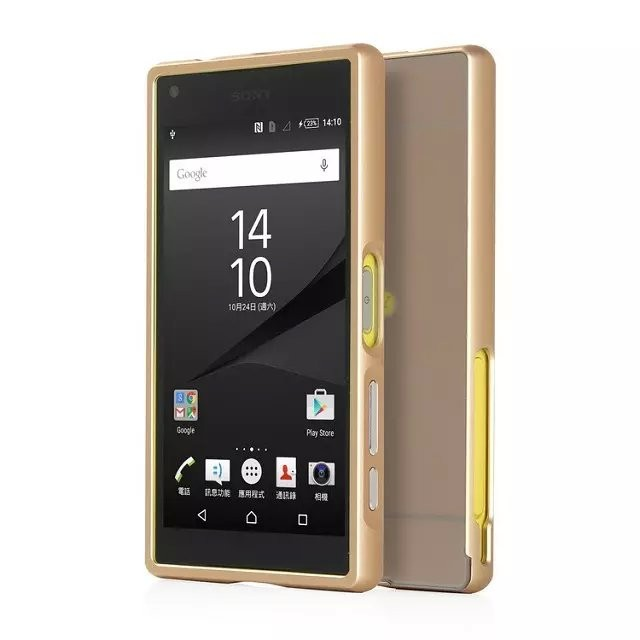 Luxury Cell Phones Cases for Sony Xperia Z5 Compact E5823 E5803 Ultrathin Aluminum Metal Frame Plastic Back Cover for Z5 Compact(China (Mainland))