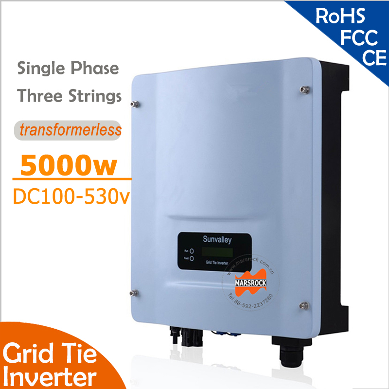 5000W Grid Tie String Inverter with Wide Input DC150-530v to 220v 60Hz, RS485 port for residential and commerical PV grid system(China (Mainland))