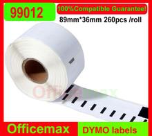 40x Rolls SEIKO DYMO compatible 99012 9012 36×89 mm Address Labels Seiko SLP Label Etiketten labelwriter Duo Twin Turbo