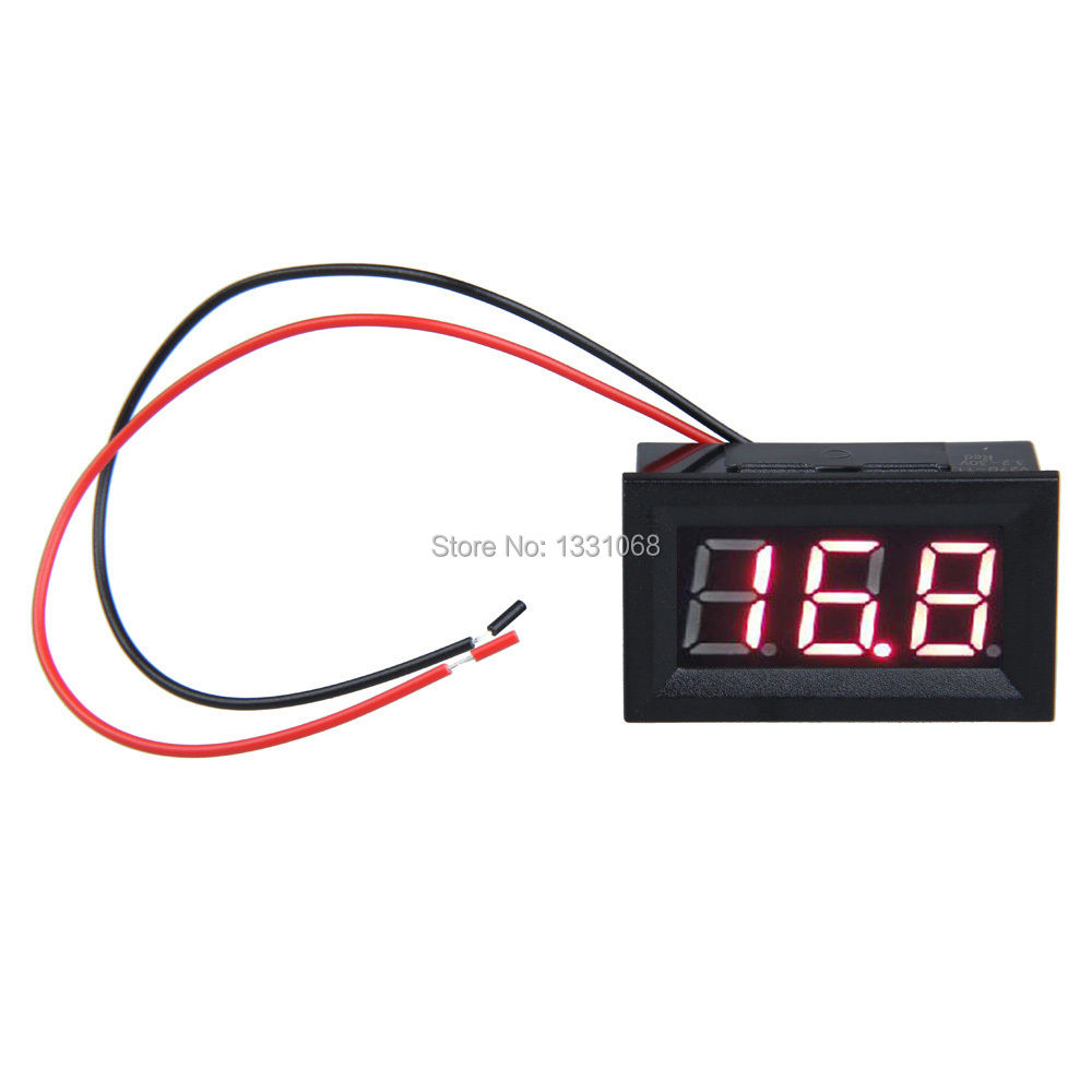 Brand new LCD DC 3.2-30V Red LED Panel Meter Digital Voltmeter with Two-wire J3G#(China (Mainland))