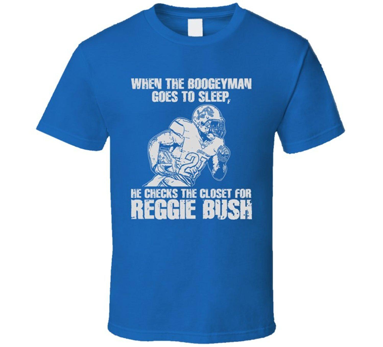 Reggie Bush Detroit City Footballer Lion Runer Back Boogeyman T Shirt(China (Mainland))