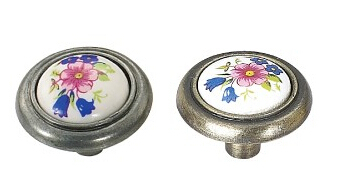 2015 Kids Knob printing Ceramic knob handle Kitchen Furniture cabinet drawer pulls(China (Mainland))