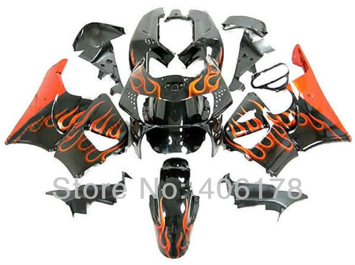 Hot Sales,Customized fairing Kit CBR900 RR 919 98 99 kit For Honda CBR900RR 919 1998-1999 Orange Flame Motorcycle Fairings(China (Mainland))