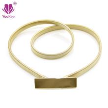 Brand New Chic Gold Metal Elastic Belts For Women Wedding Belt Dress Accessories Stretch Waist Strap Designer Belts BL-517