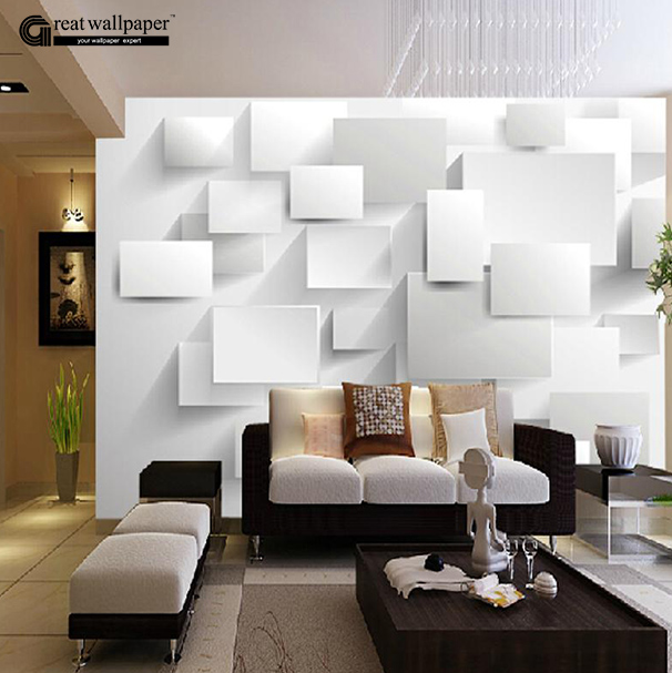 Great wall 3d large wall murals for living room three for Papel mural living comedor