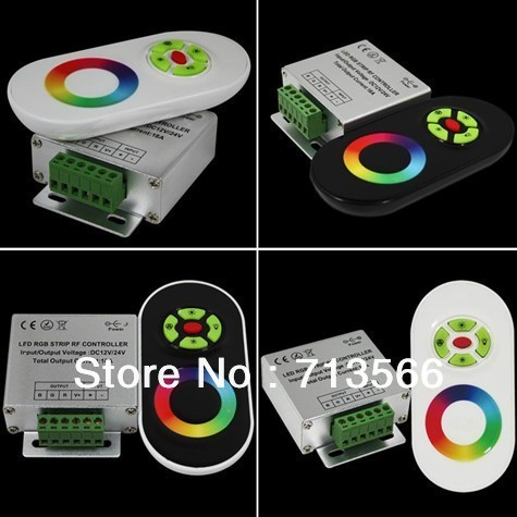 4pcs/lot DC12-24V Wireless Controller RF Touch Panel LED Dimmer RGB Remote Controller for RGB LED Strips free shipping