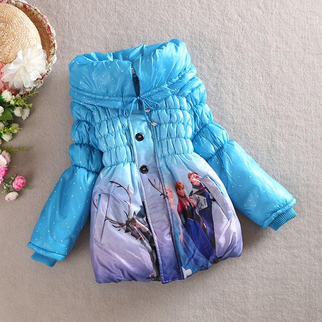Горячая распродажа 2015 детская девушки пальто зимой дети куртка для девочек куртка толстые теплые открытый вниз зимние-мягкие одежды
