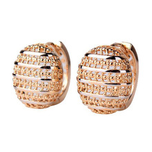Fascinating Jewelry Earrings for Women Popular Hoop Earrings Zirconia CZ Gift Jewelry High Quality E401(China (Mainland))