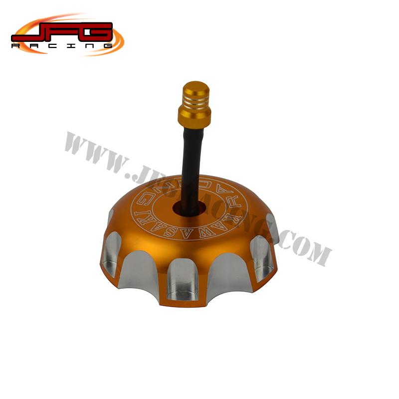 Kx 250 250f 450F KLX KFX 450 OFFRAOD MX SUPER MOTO DIRT BIKE MOTORCYCLE billet cnc gas cap fuel tank cover fuel tank cap(China (Mainland))