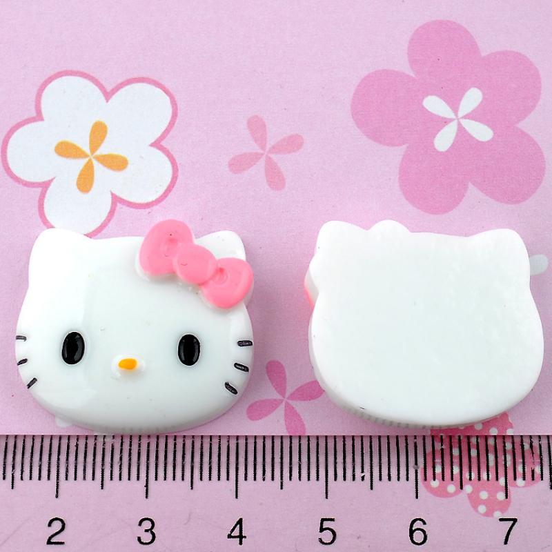 Free Shipping 20Pcs Pink Resin Hello Kitty Flatback Cabochon Scrapbooking Craft(China (Mainland))