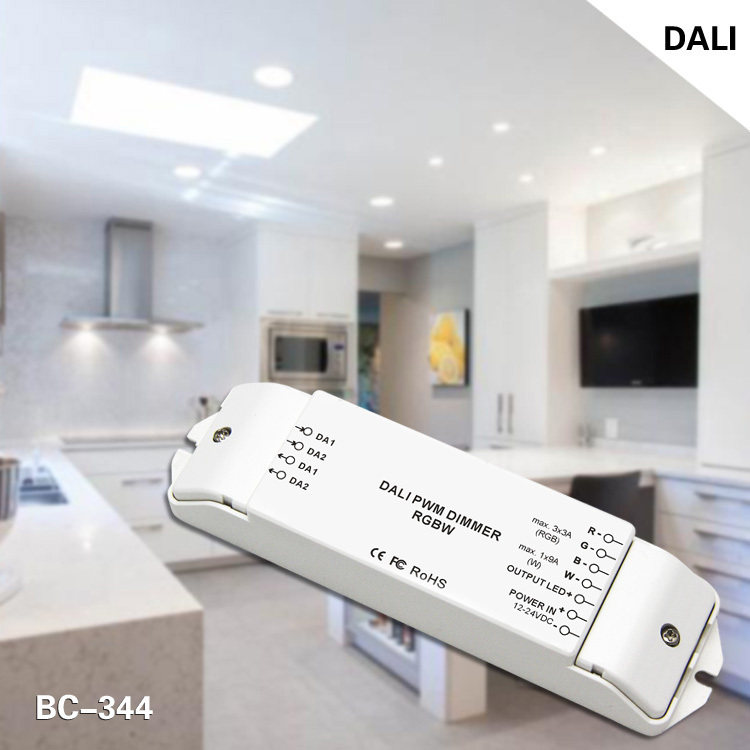 dc12-24v 4channels rgbw led dali dimming driver rgbw(China (Mainland))