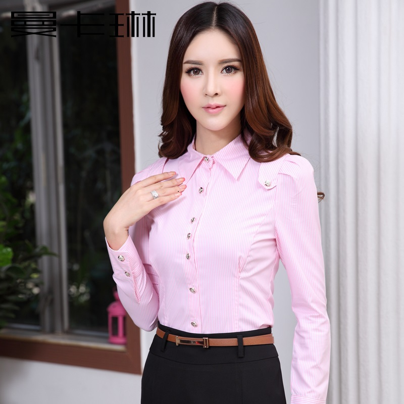 Choose from a large selection of work clothes for women, including sharp blazers, beautiful blouses and button-up shirts, slim-fitting dress pants, alluring dresses, a variety of suits, and even apparel in .