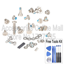 Full Screw Set With 2 pcs Bottom Screws For iPhone 4 with free tools Replacement