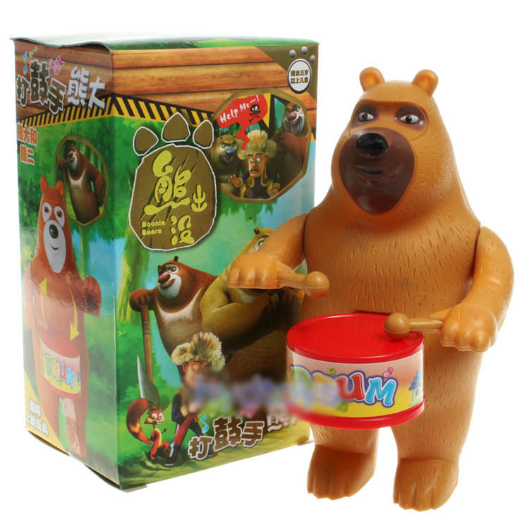 Free shipping the new hot spring drums Practical Jokes toy bear Bears chain toys children gift wholesale on knock on drums(China (Mainland))