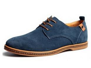 2015 Suede Baru Asli Fashion Pria Kulit Kasual Sepatu