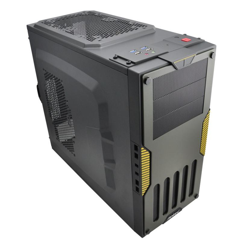 Super Military Chassis Desktop Computer Micro ATX / ATX pure aluminum mini computer case double usb(China (Mainland))
