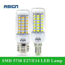 Buy SMD 5730 E27 E14 LED Lamp 5730SMD LED Lights Corn Led Bulb 24 36 48 56 69Leds Chandelier Candle Lighting Home Decoration for $1.10 in AliExpress store