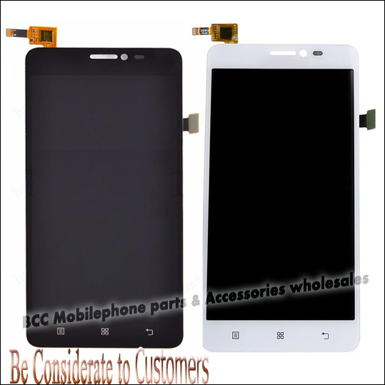 For Lenovo S850 S850T LCD display+touch screen digitizer panel+front Glass assembly full set touchscreen 100% Original Test ok