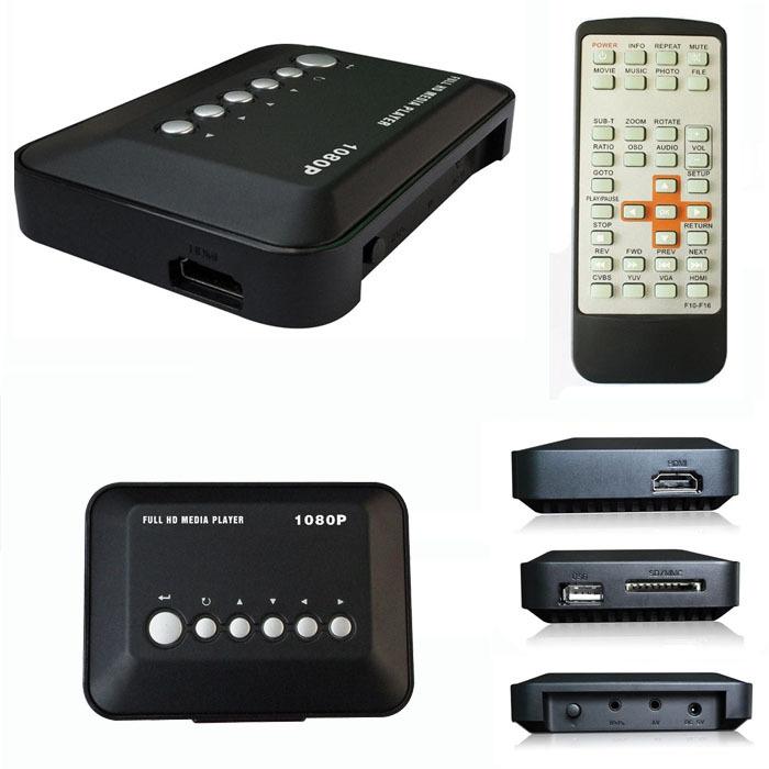 New HD 1080P USB Hard Drive Upscaling Multi Media Player MKV AVI RMVB New #0(China (Mainland))