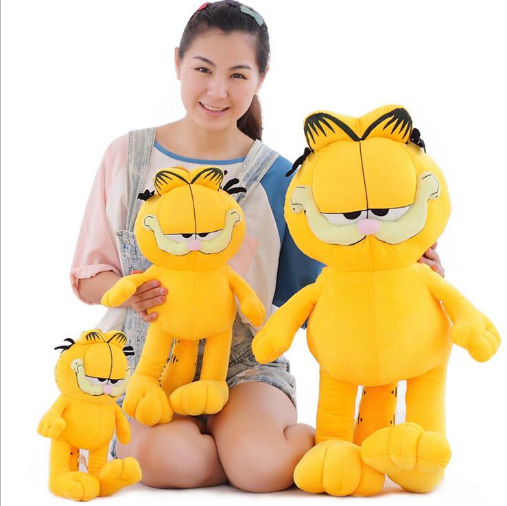 20CM New Arrival Cute Cartoon Figures Garfield Cat Plush Toys Soft Stuffed Dolls Gifts for Kids Girlfriends Christmas(China (Mainland))