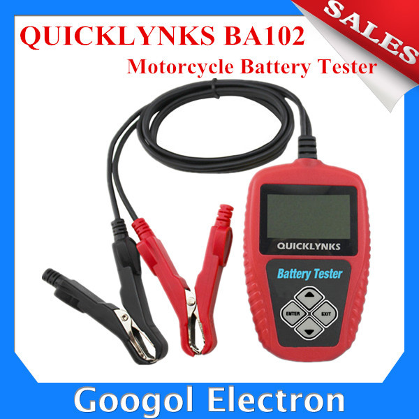 Best Price QUICKLYNKS BA102 Motorcycle Battery Tester Motorcycle Battery Analyzer Free Shipping(Hong Kong)