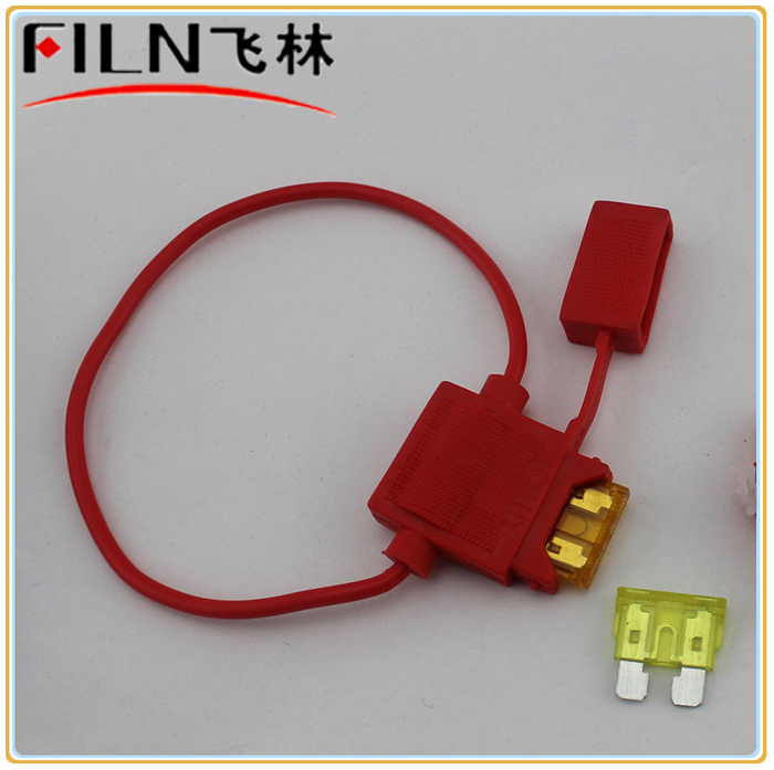 100pcs Free Shipping car in-line fuse holder with 20cm AWG18 wire and fuse<br><br>Aliexpress