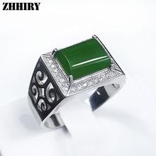 Человек кольцо Настоящее Природный Джаспер кольца джейд драгоценного камня Подлинная твердых стерлингового серебра 925 мужчины Ювелирные Изделия(China (Mainland))