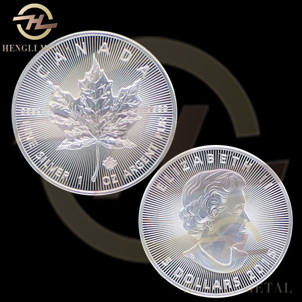 5pcs /lot Monmagnetic EXACT REPLICA 2015 $ 5 Dollars Canadian Maple Leaf Coin 1oz Troy 9999 Fine Silver Bullion Coin Canada Coin(China (Mainland))