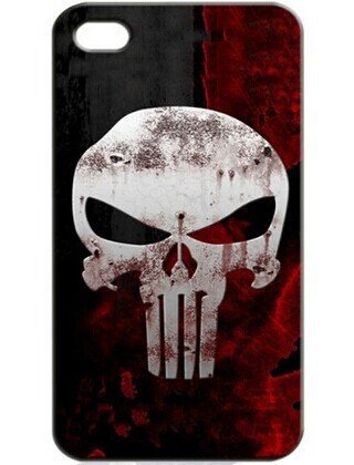 punisher skull Cover Casefor iPhone 4S 5 5S 5C 6 6S Touch Plus Samsung Galaxy S3 S4 S5 Mini S6 Edge A3 A5 A7 Note 2 3 4  -  In Season store