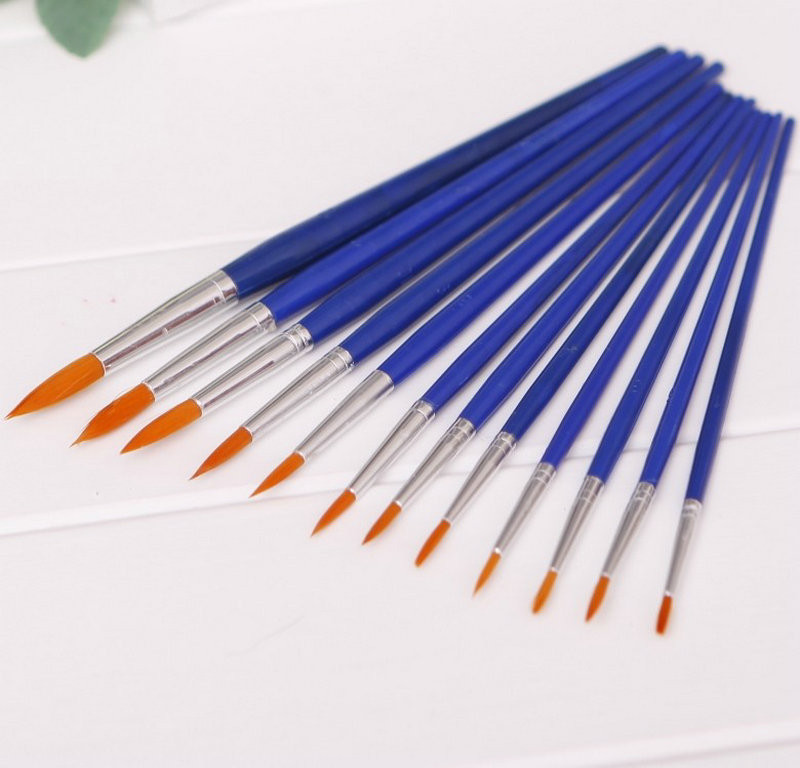 2017 wholesale high quality assorted size fine paint for Wholesale craft paint brushes