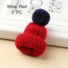 7 Warna Cute Mini Rajutan Hairband Topi Bros Sweater Pins Lencana Kerah Aksesoris Pakaian Kreatif Topi Pin Bros Wanita(China)