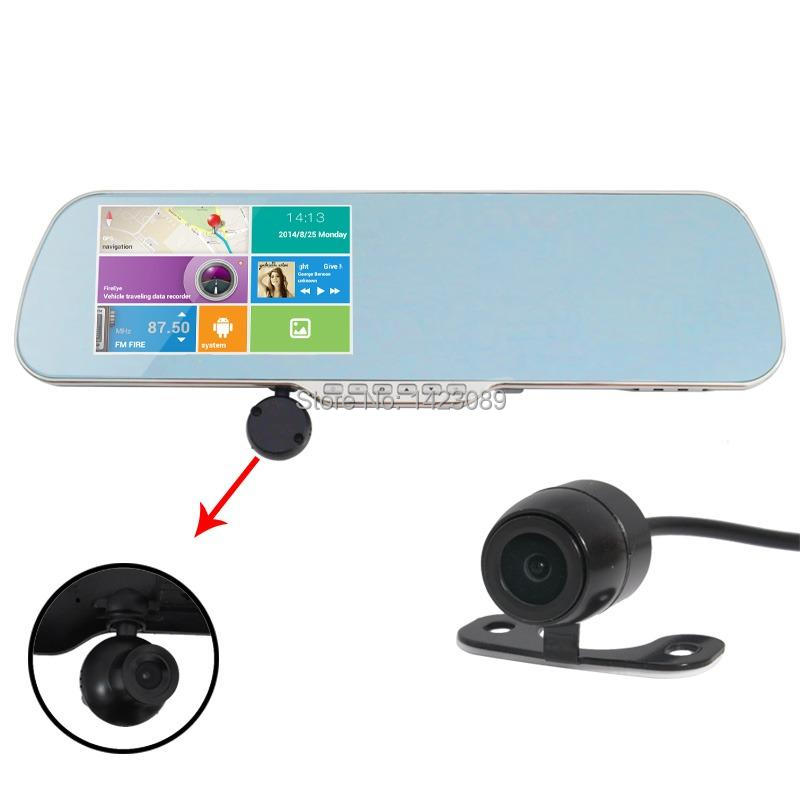 car gps reverse camera car dvr android 5inch GPS 1080P Android Rearview Mirror WIFI DVR Video Recorder+wireless rearview camera(China (Mainland))