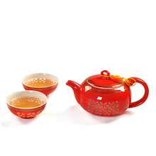 Chinese Kung Fu Tea Set,Ultra-Thin Exquisite Teaset,Bone China TeaPot Tea Cup,3-pcs Set Coffee Tea Sets,High Quality