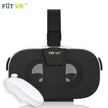 New FIIT VR 3D Virtual Reality Video Helmet VR Glasses for 4.0 ~ 6.5 inch Smartphone Lightweight Ergonomic Design + Gamepad 5.0