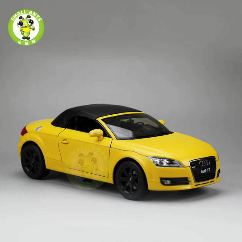 1:18 Scale Audi TT Roadster Convertible Car Model Welly 18016H Yellow(China (Mainland))